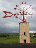 Mulino a vento tipico Fotografia Stock Libera da Diritti