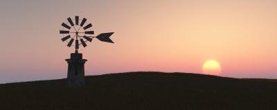 mulino a vento tradizionale in Mallorca, Isole Baleari Immagine Stock Libera da Diritti