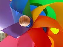 Mulino a vento variopinto   Fotografia Stock Libera da Diritti