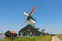 Mulino a vento a Zaanse Schans Fotografia Stock