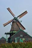 Mulino a vento in Zaanse Schans, Olanda Fotografia Stock Libera da Diritti