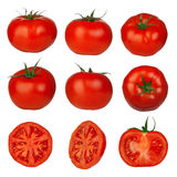 Muliple tomatoes isolated Stock Images