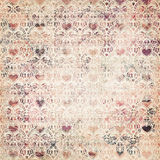 Mulit-color decorative heart valentines pattern Royalty Free Stock Photography