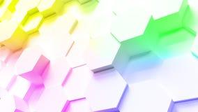 Technology hexagon pattern background stock video