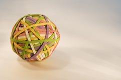 mulitcolored gummi för boll band Arkivbild
