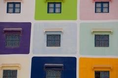 Muliti färgade huset i Agadir Royaltyfria Foton