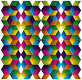 Muliticolored cubes pattern. Royalty Free Stock Photography