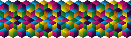 Muliticolored cubes strip pattern. Stock Photography