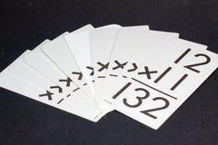 Mulitiplication Flash Cards Stock Photos