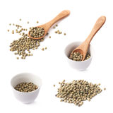 Mulitple green peppercorn compositions Royalty Free Stock Photography