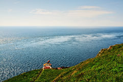 Mull of Galloway with Fog Horn Stock Photography