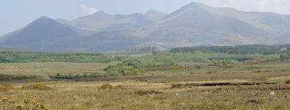 Mullaghanattin Mountain  Range Royalty Free Stock Image