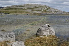Mullaghmore & Lough Gealain. The Burren National Park, Co. Clare, Ireland Royalty Free Stock Photos