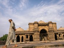 Mullah at Mosque. Dada Harir Mosque was built in 15th century and its one of the oldest monument of Ahmedabad, India. Mulla captured at mosque of Dada Harir who Royalty Free Stock Photos