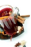 Mulled вино и плодоовощи Стоковая Фотография RF