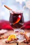 Mulled вино на рождестве Стоковое Фото