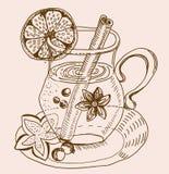Mulled теплая предпосылка вина Стоковые Фото