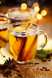 Mulled cider with aromatic spices and citrus fruits Royalty Free Stock Photography