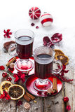 mulled kryddawine Royaltyfria Bilder