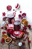 mulled kryddawine Royaltyfri Foto
