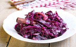Mulled red cabbage Stock Images