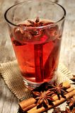 Mulled red wine cocktail grog xmas time Royalty Free Stock Photos