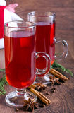 Mulled red wine Stock Images