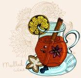 Mulled varm winebakgrund Royaltyfria Bilder