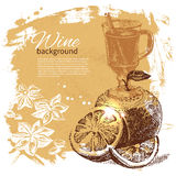 Mulled vintage background Royalty Free Stock Images