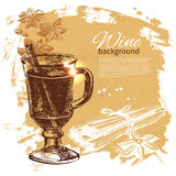 Mulled vintage background Stock Photography