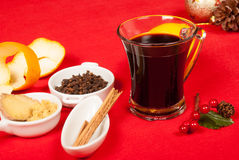 Mulled wine Arkivfoton