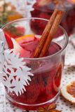 Mulled wine. Glass with red mulled wine Stock Photo