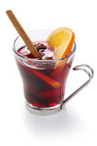 Mulled wine. Hot punch isolated on white background Royalty Free Stock Image