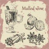 mulled wine Arkivbilder