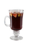 Mulled wine. Alcoholic mulled wine in the glass Royalty Free Stock Photos