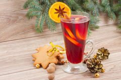 Mulled Wine And Gingerbread Stock Image