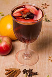 Mulled wine with apple Stock Image