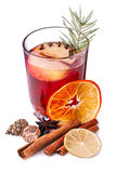 Mulled wine with apples Royalty Free Stock Photography