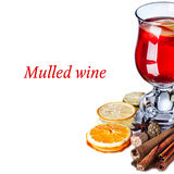 Mulled wine with apples. Mulled wine with ingredients and spices Stock Images