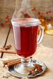 Mulled wine - a beverage made with red wine Stock Photography