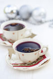 Mulled wine for Christmas Stock Photo