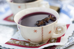 Mulled wine for Christmas Stock Photography
