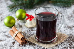 Mulled wine for christmas Royalty Free Stock Images