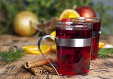Mulled wine at Christmas Royalty Free Stock Photo