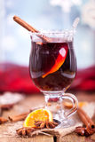 Mulled wine at christmas Stock Photo