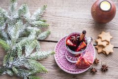 Mulled wine on Christmas eve Stock Image