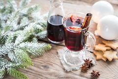 Mulled wine on Christmas eve Royalty Free Stock Image