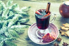 Mulled wine on Christmas eve Royalty Free Stock Images