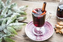 Mulled wine on Christmas eve Stock Images