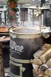 Mulled wine at christmas fair Royalty Free Stock Photos